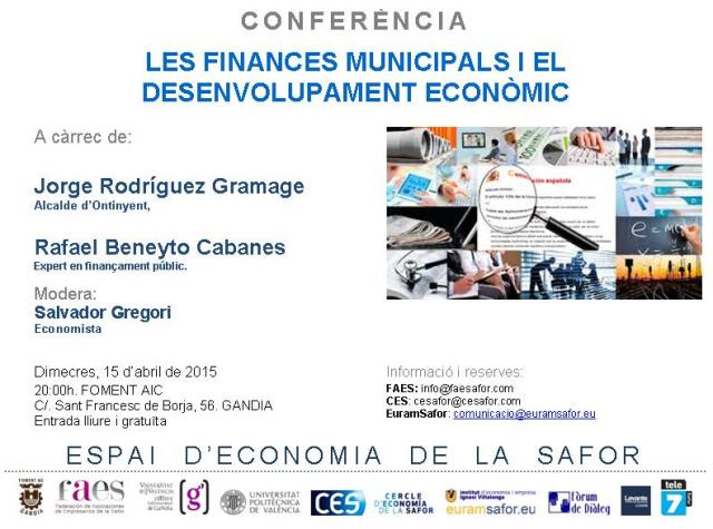 Finances municipals i desenvolupament económic.