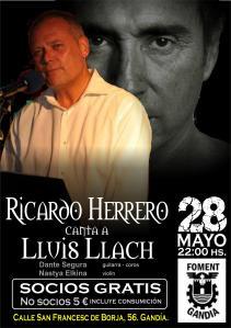 Fomento Gandia ofrece un homenaje a Lluis Llach