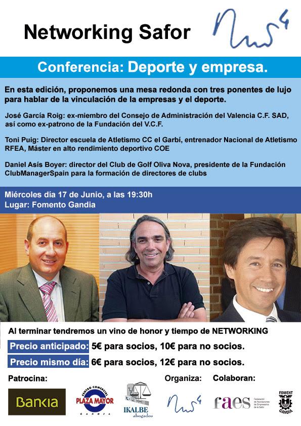 Fomento Gandia conferencia deporte y empresa